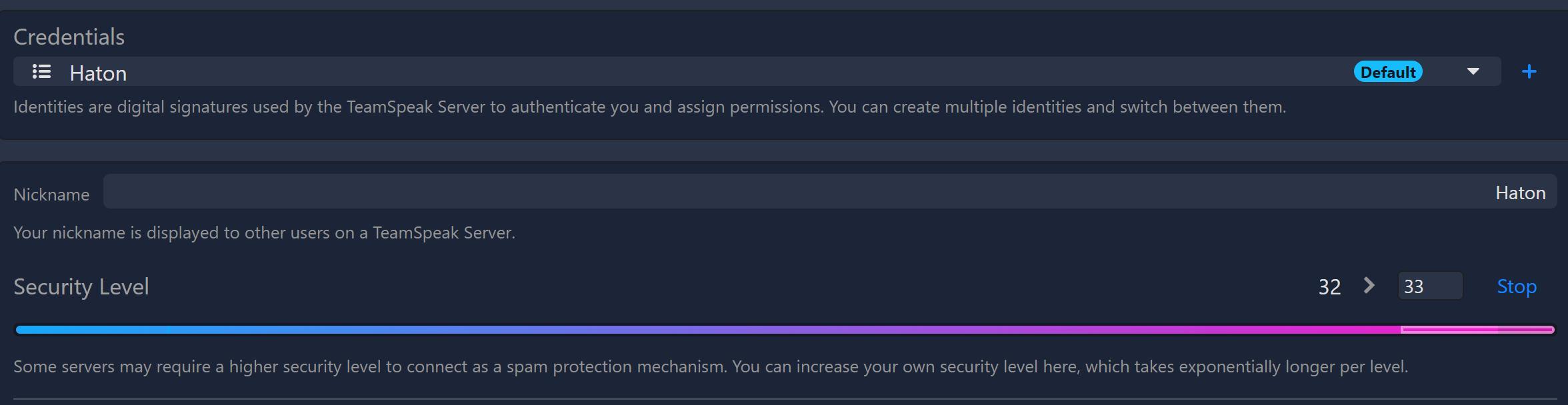 Sicherheitslevel in Teamspeak 5 erhöhen - Haton.net
